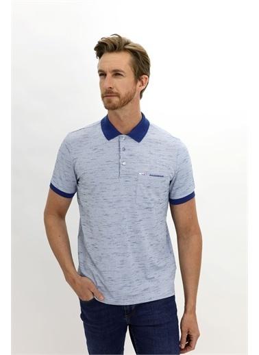 Kiğılı Kiğılı KY21BR79DS005 Polo Yaka Kısa Kollu Slim Fit Erkek TShirt Mavi
